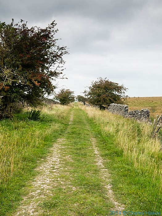 Moor Lane near Winterburn reservoir, photographed from The Dales High Way by Charles Hawes