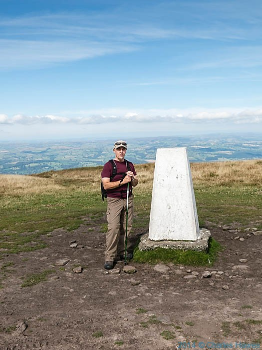 Trig point at Rhos Dirion, photographed by Charles Hawes