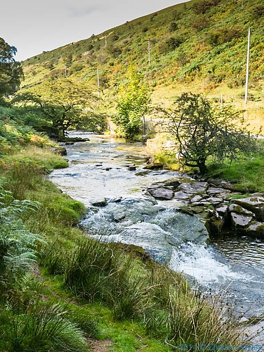Stream from the Grwyne Fawr reservoir in the Brecon Beacons, photographed by Charles Hawes