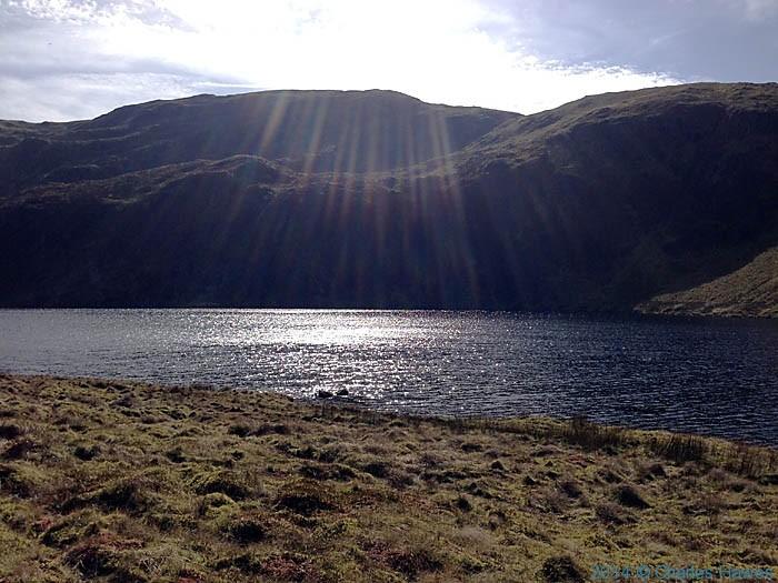 The Llyn Llygad Rheidol reservoir near Plynlimon, photographed by Charles Hawes