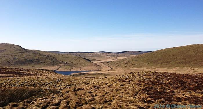 The Afon Llechwedd mawr, flowing into the Nant-y-moch reservoir, photographed by Charles Hawes