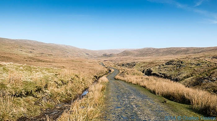 Track leading towards Plynlimon from Eisteddfa Gurig, photographed by Charles Hawes