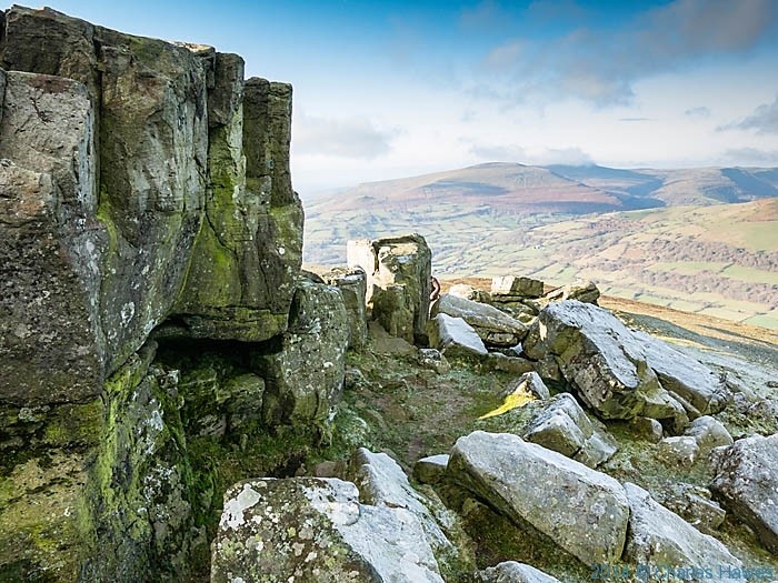Summit of Sugar Loaf, near Abergavenny, Monmouthshire, photographed by Charles Hawes