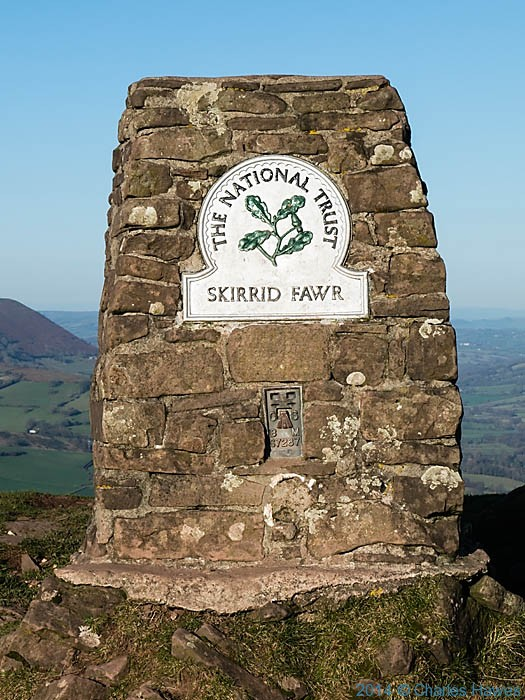 Trig Point of The Skirrid (Ysgyryd Fawr) , Monmouthshire, photographed by Charles Hawes