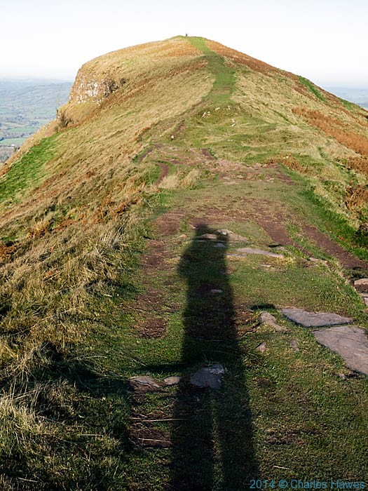 View to the Trig point on the Skirrid, photographed by Charles Hawes