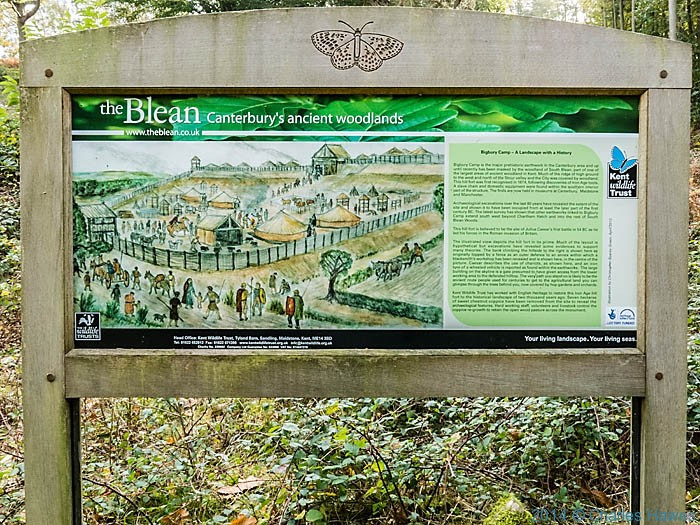 Information board for The Blean, near Canterbury, photographed from the North Downs Way by Charles Hawes