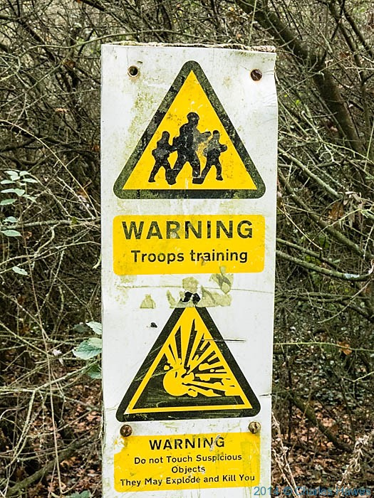 Sign near the Sturry Road Community Park on the Stour Valley Walk, photographed by Charles Hawes