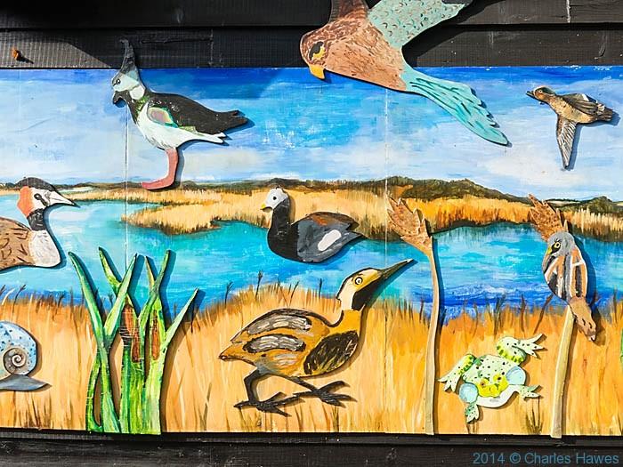 Wildlife board near Stodmarsh, photographed by Charles Hawes