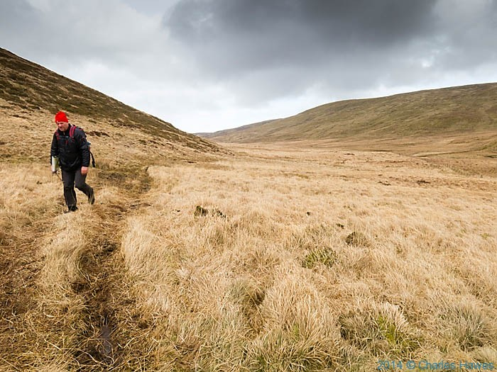 Walking above the Afon Hengwm, Powys, photographed by Charles Hawes