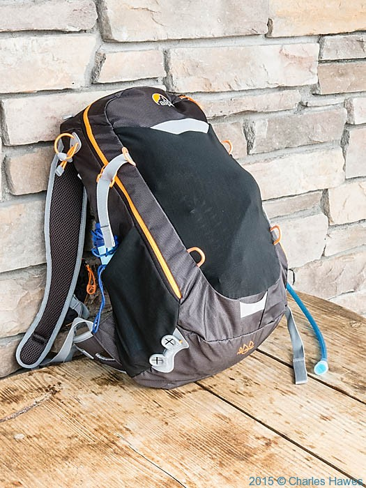 Lowe Alpine Airzone Z20 day sack, photographed by Charles Hawes