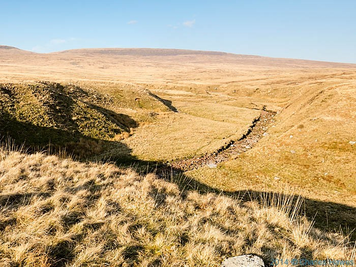 Dry stream bed near Cefn Mawr in the Brecon Beacons National Park, photographed by Charles Hawes