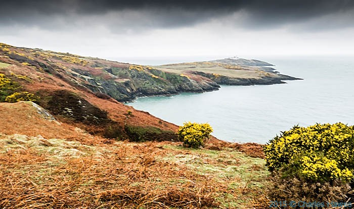 View to point lynas, Anglesey, photographed from The wales Coast Path by Charles Hawes
