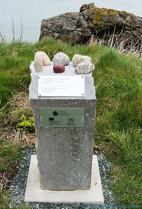 Heritage stone trail, Cemaes, photographed on the Wales Coast Path in Anglesey by Charles Hawes