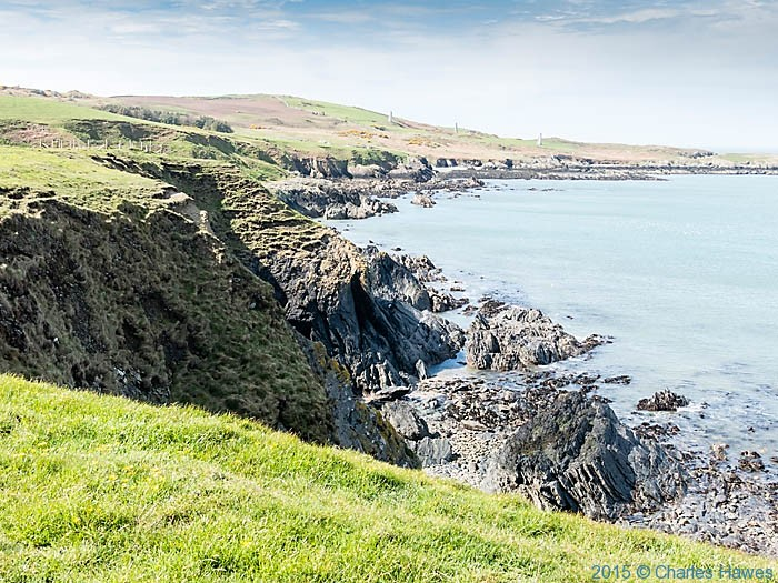 View to Carmel Head, Anglesey, photographed from The Wales Coast Path by Charles Hawes