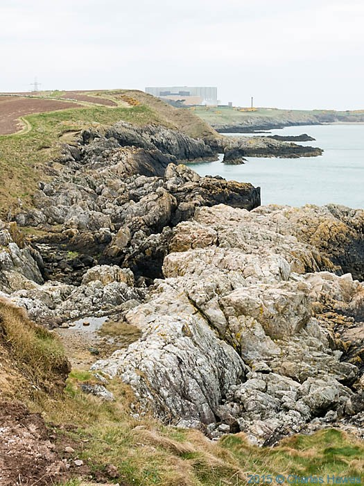 View to the Wylfa Nuclear Power Station from Near Cemaes, photgraphed from The Wales Coast Path by Charles Hawes