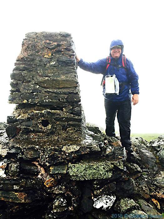 The summit of Moel heborg, near Beddgelert, Snowdonia, photographed by Charles Hawes