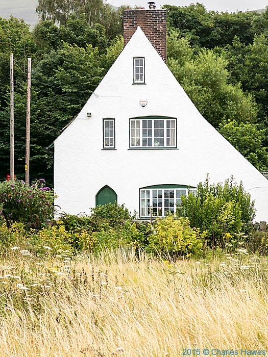 Arts and crafts house near Llanfairfechan, photographed from The wales Coast Path by Charles Hawes