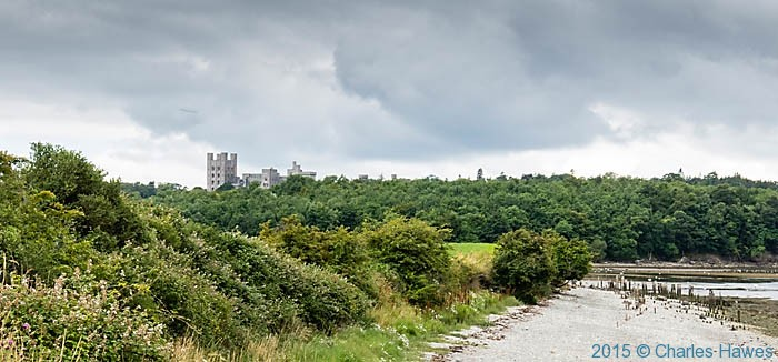 Penrhyn castle, photographed from The wales Coast Path by Charles Hawes