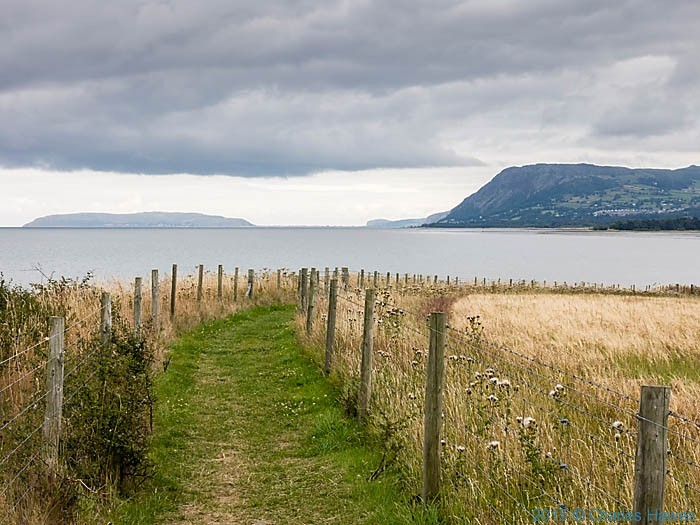 View to Great Orme, photographed from The Wales Coast Path by Charles Hawes