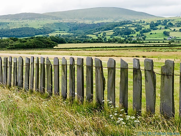 Slate fence by the Wales Coast Path, photographed by Charles Hawes