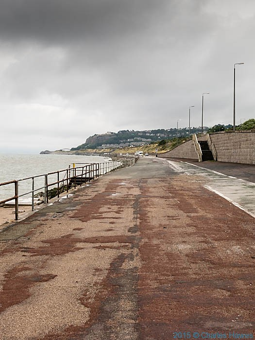 the end of the promenade at Colwyn Bay, photographed from The wales Coast Path by Charles Hawes
