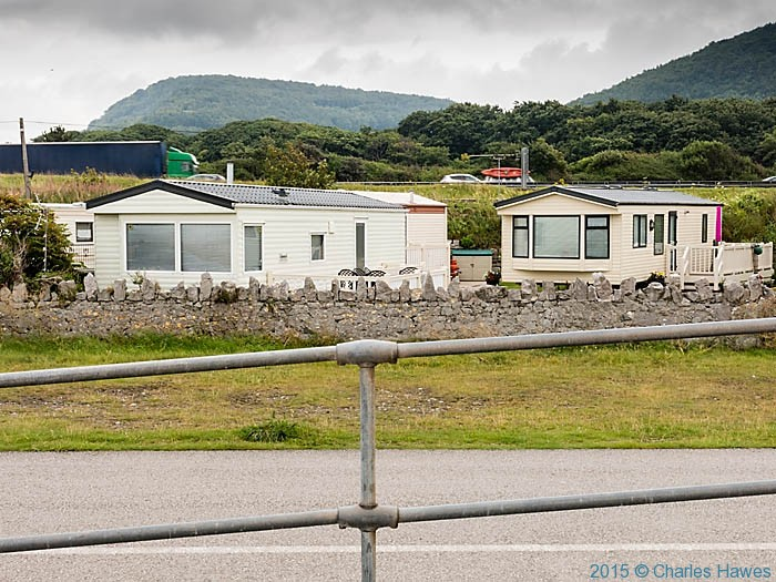 Castle Cove Caravan Park, photographed from The Wales Coast Path by Charles Hawes