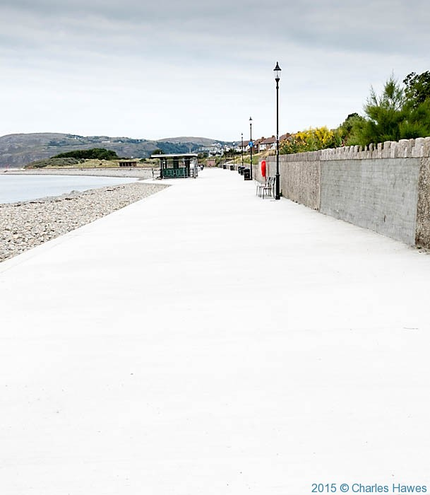 Promenade by River Conwy, photographed from The Wales Coast Path by Charles Hawes