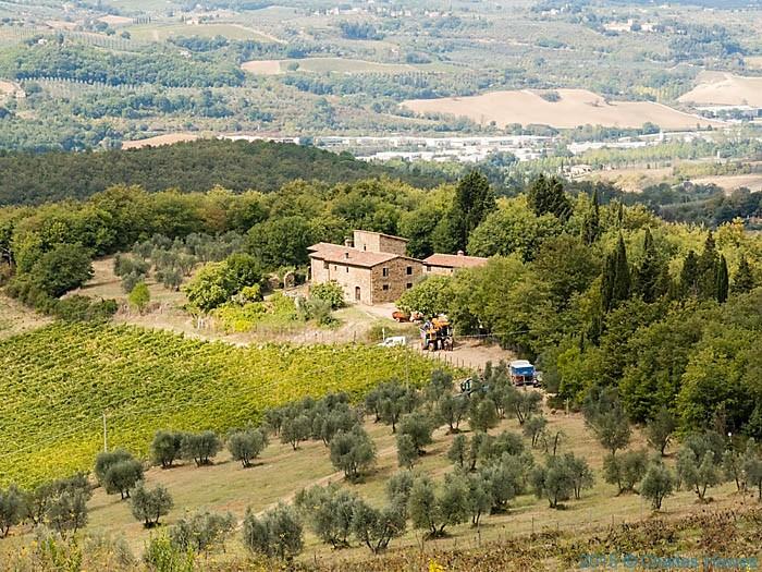 Casa Pieto below Poggio al Vento near Badia a Passignano, Tuscany, Photographed by Charles Hawes