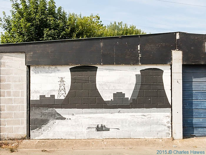 Mural of power station at Connah's Quay, photographed from The Wales Coast Path by Charles Hawes