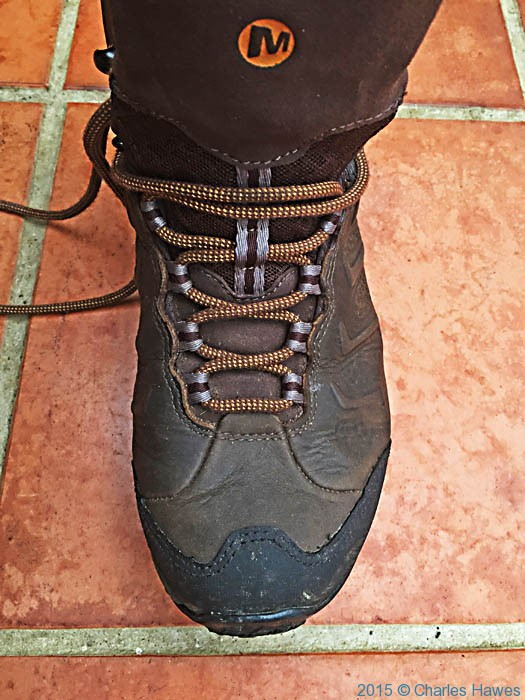 Merrell Mid Chameleon Shift walking boot, photographed by Charles Hawes