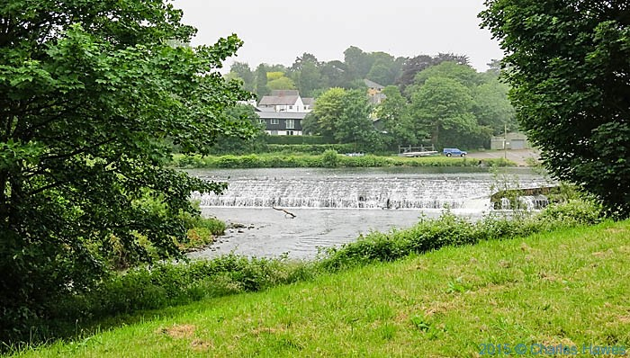 Weir on the River Taff, Cardiff, photographed from The Cambrian Way by Charles Hawes