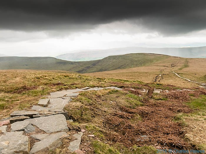 Cambrain Way near Pen Trumau, Black Mountains, photographed by Charles Hawes