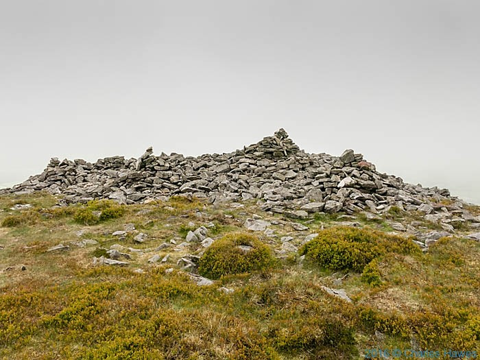 Pen Gloch y Pibwr, photographed from The Cambrian Way by Charles Hawes