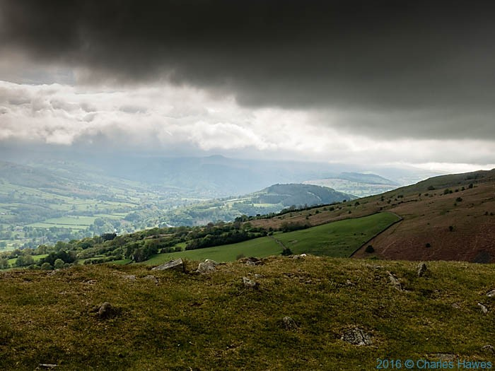 View from Table Mountain to the Usk Valley: The Cambrian Way, photographed by Charles Hawes