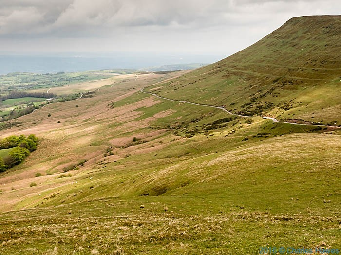 Gospal Pass photographed from Lord Hereford's Knob on the Cambrian Way by Charles Hawes