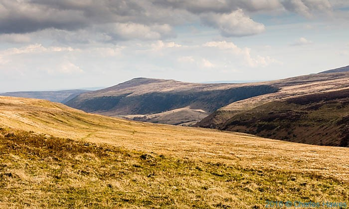 Black Mountains from Lord Hereford's Knob on the Cambrian Way, photographed by Charles Hawes