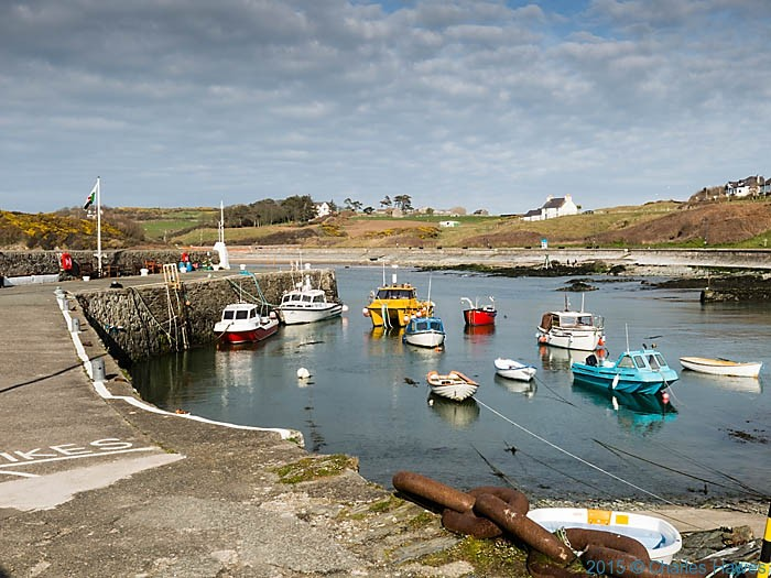 Cemaes harbour, Anglesey, photographed by Charles Hawes