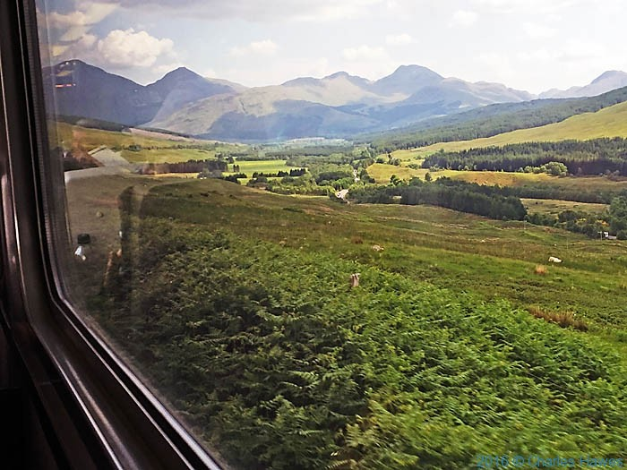 View from the The West Highland Railway, photographed by Charles Hawes