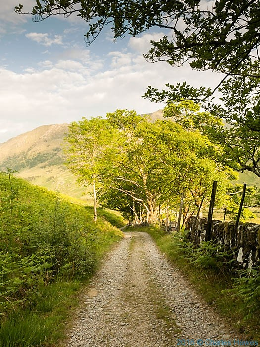Track from Inverie on Knoydart, photographed by Charles Hawes