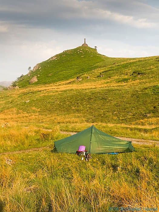 Camping on Knoydart, Scotland, with view to the Brocket Monument, phtographed by Charles Hawes