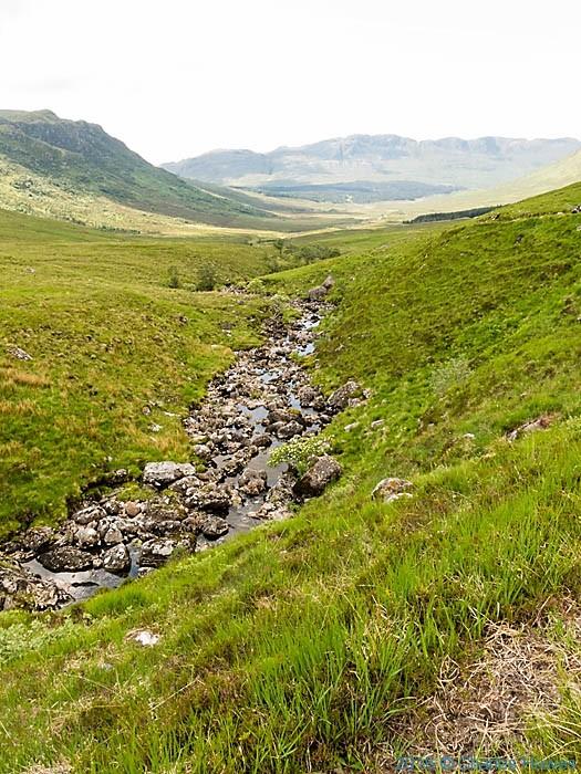 Allt Coire Torr an Asgaill, Gleann na Guiserein, Knoydart, Scotland, photographed by Charles Hawes