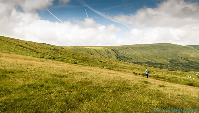 Walking the Brecon Beacons Way from Storey Arms, photographed by Charles Hawes