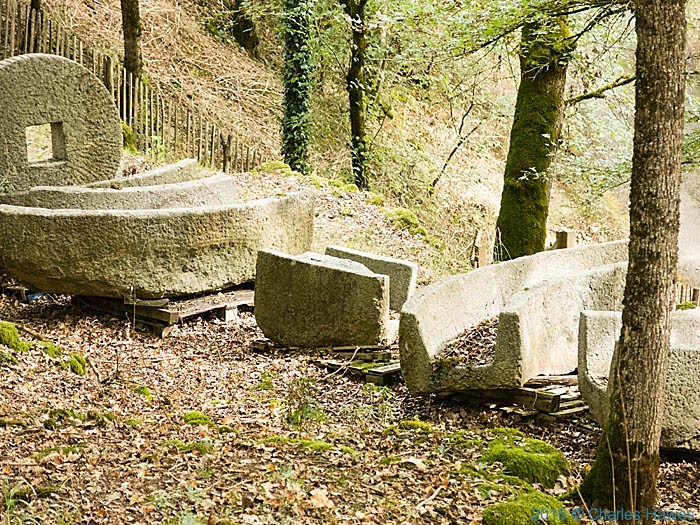 Dismantled mill stones near Turenne, France, photographed by Charles Hawes