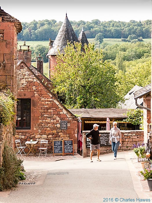 Collonges-la-rouge, Dordogne, France, photographed by Charles Hawes