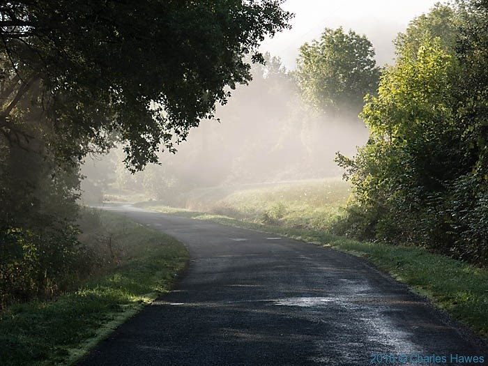Road out of Carennac, France, photographed by Charles Hawes