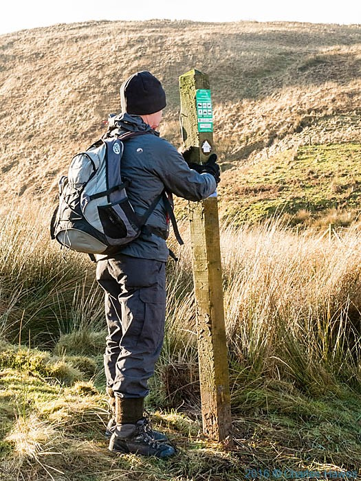Finger post on the Cambrian Way in Ceredigion photographed by Charles Hawes