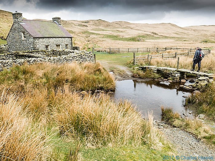 Claerddu photographed from The Cambrian Way by Charles Hawes