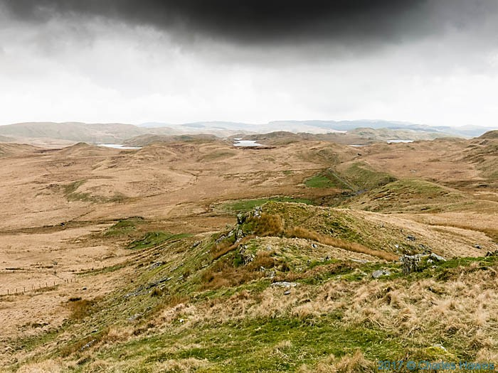 View to the Teifi Pools photographed from the Cambrian Way by Charles Hawes
