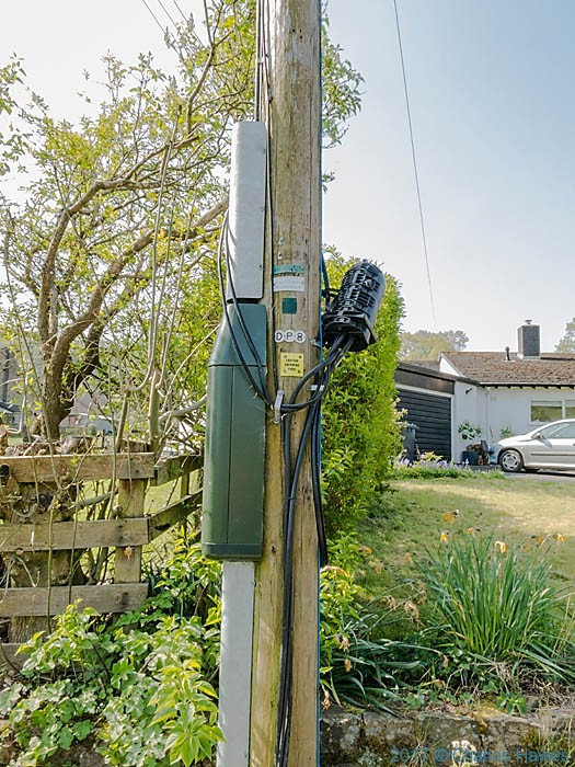 Superfast broadband fibre junction, Llanarmon, photographed by Charles Hawes