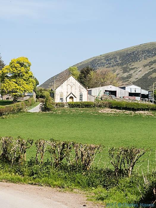 Chapel at Pentre, near Llanarmon Dyffryn Ceiriog, photographed by Charles Hawes
